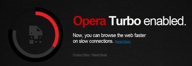 Как включить режим turbo в opera